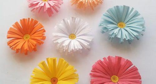 Manualidades, cartón, papel, hoja, doblar, origami, papiroflexia mano, juguete, FLORES, Margaritas, Innova, canalmenorca.com