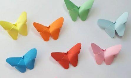 Manualidades, cartón, papel, hoja, doblar, origami, papiroflexia mano, juguete, Mariposas, Lepidóptero, Innova, canalmenorca.com
