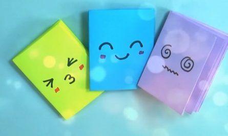 Manualidades, cartón, papel, hoja, doblar, origami, papiroflexia, mano, juguete, Mini Libretas fáciles, con UNA sola hoja, Easy Notebooks, just one sheet of paper, RaniArts, Rápido, Económico, Apuntes, Tarjetas, canalmenorca.com