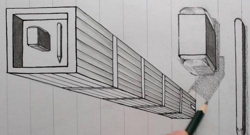 Cómo Dibujar un EDIFICIO en 3D con truco de líneas