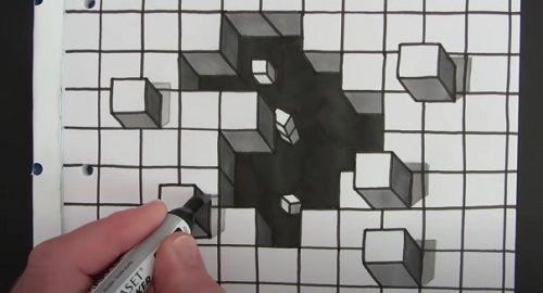 Cómo dibujar un AGUJERO en 3D con ilusión Anamórfica