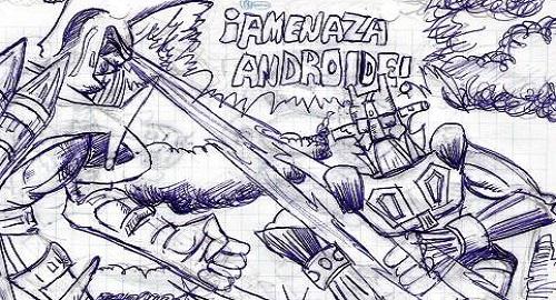 cómic, viñeta, dibujo, caricatura, historieta, tebeo, dibujante, menorquín, inefable, Tommy knockers, Salas, NiñoX, ProtestoneX, Rarezas, Bocetos, esbozos, Amenaza Androide, Robot Japonés, Trump, Segunda Enmienda, USA, Saltamontes, Aztecas, Autómata, Bisontes, Kepler, Alquimita, Zahorí, Zamburiñas, racomic.com, canalmenorca.com