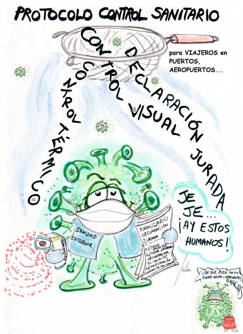 cómic, viñeta, dibujo, tebeo, historieta, arte, caricatura, rincón, julia, Rabiosa, Actualidad, Radiaciones Comiqueras, Cómic, Digital, Desescalada, coronavirus, covid-19, cuarentena, confinamiento, mascarilla, test, epidemia, pandemia, racomic.com, Coladero, Bolivia, Madrid, Madrid, Palma, canalmenorca.com