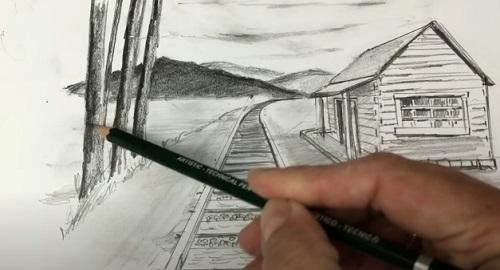 Como Dibujar un Paisaje en Perspectiva de Un Punto
