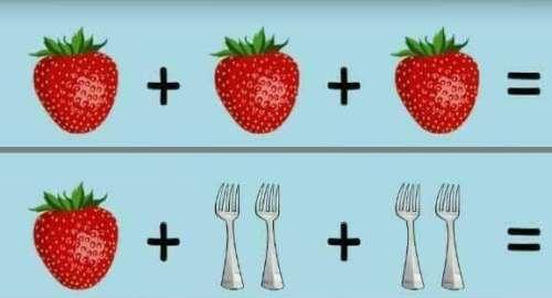 Fresas, Sandias, Tenedores «Acertijo Matemático»