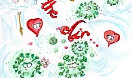 cómic, viñeta, dibujo, tebeo, historieta, arte, caricatura, rincón, julia, Rabiosa, Actualidad, Radiaciones Comiqueras, Cómic, Digital, Desescalada, coronavirus, covid-19, cuarentena, confinamiento, mascarilla, test, epidemia, pandemia, racomic.com, OMS, por el aire, vía aérea, enfermedad nueva, Love is in the air, canalmenorca.com