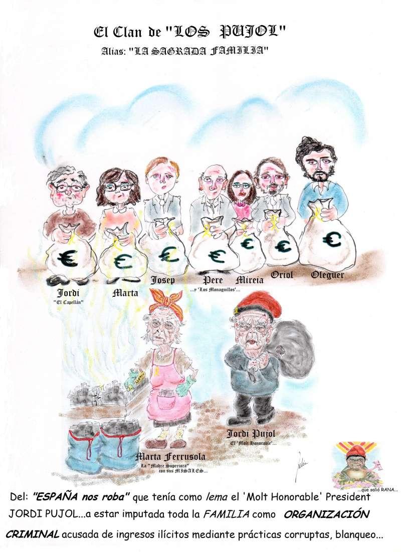 cómic, viñeta, dibujo, tebeo, historieta, arte, caricatura, rincón, julia, Rabiosa, Actualidad, Radiaciones Comiqueras, Cómic, Digital, racomic.com, Clan, Pujol, Legalidad, ideales patrióticos, religiosos, altruistas, Juez, Audiencia Nacional, osé de la Mata, Patriarca, Presidente Generalitat, Catalunya, CIU, España nos roba, Organización Criminal, Molt Honorable, canalmenorca.com