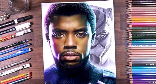 Dibujando a Chadwick Boseman como Black Panther