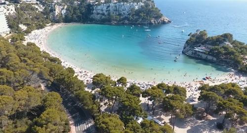 Cala Galdana, Menorca, a vista de dron