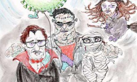 cómic, viñeta, dibujo, tebeo, historieta, arte, caricatura, rincón, julia, Rabiosa, Actualidad, Radiaciones Comiqueras, Cómic, Digital, Desescalada, coronavirus, covid-19, Gestión, Escasa, Tarde, cuarentena, confinamiento, mascarilla, test, epidemia, pandemia, racomic.com, Hallowen, Todos los Santos, Disfraces, Salvador Illa, Colmillos, Pedro Sánchez, Frankenstein, Diaz Ayuso, Pablo Iglesias, Santiago Abascal, Calabazas, Fernando Simón, Noche de Brujas, Samhain, Fin Verano Irlandés, Fiesta Pagana, Festival Celta, canalmenorca.com
