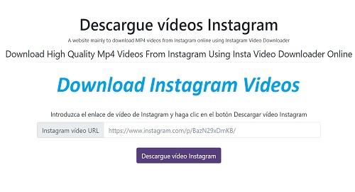 Instagram Video Downloader, Descargar Vídeos de Instagram