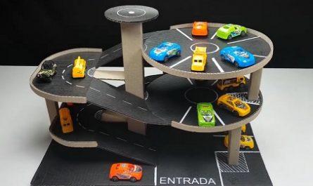 manualidades, bricolaje, mano, casero, juegos, juguetes, Reciclaje, fácil, gratis, cartón, garaje, aparcamiento, cochecitos, canalmenorca.com