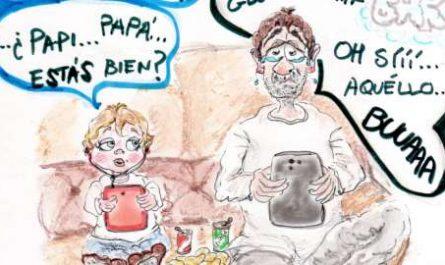 cómic, viñeta, dibujo, tebeo, historieta, arte, caricatura, rincón, julia, Rabiosa, Actualidad, Radiaciones Comiqueras, Cómic, Digital, Desescalada, coronavirus, covid-19, Gestión, Escasa, Tarde, cuarentena, confinamiento, mascarilla, test, epidemia, pandemia, racomic.com, BAR, VAR, Gabinete Caligari, Al calor del amoren un bar, canalmenorca.com