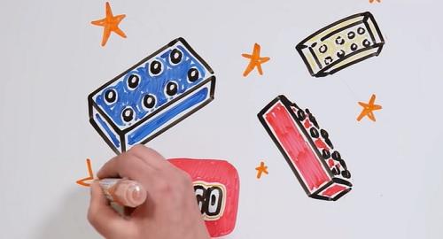 Historia de LEGO, contada dibujando en papel