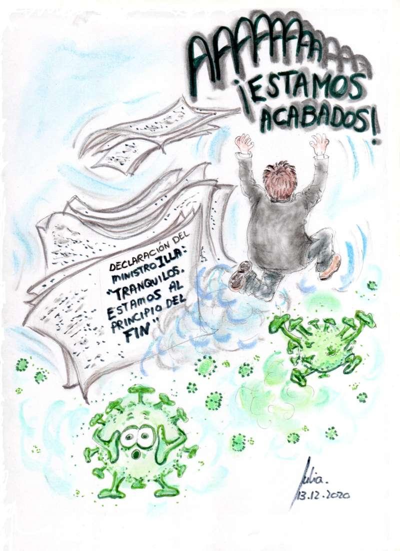 cómic, viñeta, dibujo, tebeo, historieta, arte, caricatura, rincón, julia, Rabiosa, Actualidad, Radiaciones Comiqueras, Cómic, Digital, Desescalada, coronavirus, covid-19, Gestión, Escasa, Tarde, cuarentena, confinamiento, mascarilla, test, epidemia, pandemia, Toque de Queda, Aforos Limitados, Salvador Illa, Niño de la Curva, Fernando Simón, racomic.com, epidemia, peste, epizootia, endemia, contagio, plaga, azote, oleada, ola, avalancha, canalmenorca.com