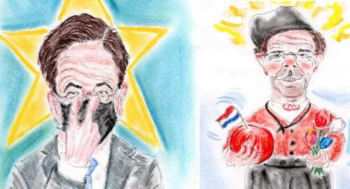¡Mark RUTTE, el primer ministro holandés, 'retratado'!