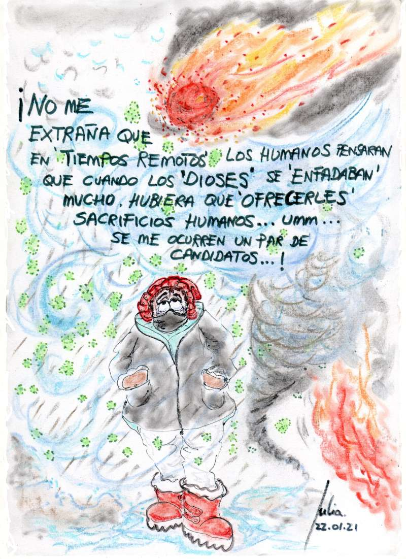 Menorca, bosquejo, croquis, esquema, boceto, esbozo, ilustración, pintura, retrato, viñeta, dibujo, rincón julia, Rabiosa Actualidad, Radiaciones Comiqueras, Cómic Digital, Tiempos Caóticos, Tiempos Convulsos, Albores de la humanidad, Sacrificios Humanos, Gestionar la Frustración, Fernando Simón, Salvador Illa, No te salva ni Dios, canalmenorca.com