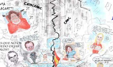 Menorca, bosquejo, croquis, esquema, boceto, esbozo, ilustración, pintura, retrato, viñeta, dibujo, rincón julia, Rabiosa Actualidad, Radiaciones Comiqueras, Cómic Digital, Sede PP, Sede Partido Popular, Genova 13, Poltergeist, Exorcismo, Casado, Rajoy , canalmenorca.com