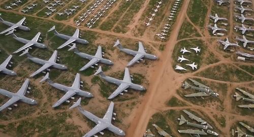 El Cementerio de AVIONES AMARG en Tucson, Arizona