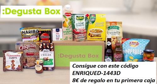 8€ de DESCUENTO en tu primera CAJA de DEGUSTACIÓN «DegustaBox»