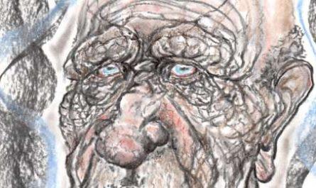 Menorca, bosquejo, croquis, esquema, boceto, esbozo, ilustración, pintura, retrato, viñeta, dibujo, rincón julia, Rabiosa Actualidad, Radiaciones Comiqueras, Surcos, Grietas, Estrias, Arrugas, Rostro Humano, Paso de los años, Envejecer, Madurez
