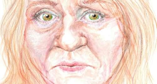 Estudio sobre rostro de mujer en acuarela…