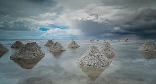 El SALAR desértico de UYUNI, Bolivia