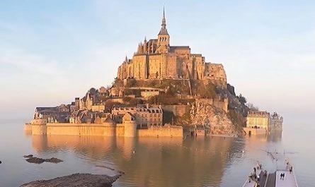 vídeos, asombrosos, increíbles, pasmoso, sorprendente, admirable, fascinante, mágico, milagroso, portentoso, prodigioso, sobrehumano, increíble, fenomenal, sensacional, estupendo, extraordinario, desconcertante, naturaleza, viajar, explorar, aventura, Dónde está, Cómo llegar, Ubicación de, Localización de, Isla, Monte Saint-Michel, Normandía, Francia, Couesnon, Miguel Arcángel