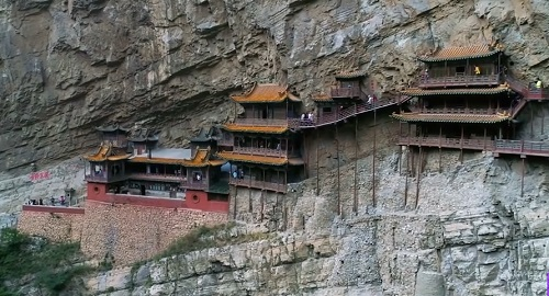 El Templo COLGANTE de XUANKONG, Shanxi, China