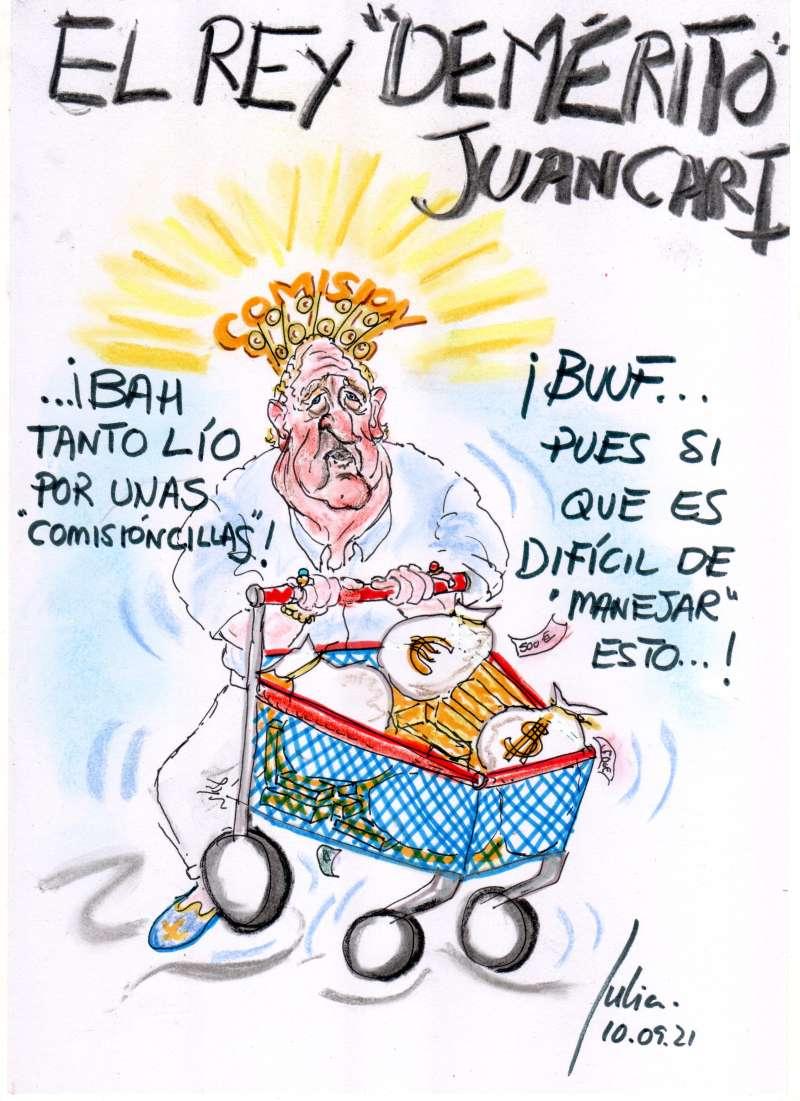 Menorca, bosquejo, croquis, esquema, boceto, esbozo, ilustración, pintura, retrato, viÑETA, dibujo, rincón julia, monarquia, Juan Carlos I, Rey Emérito, Borbones, Comisiones, Alfonso X el Sabio